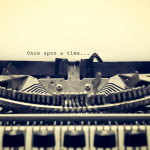 A typewriter with the words once upon a time typed on the paper